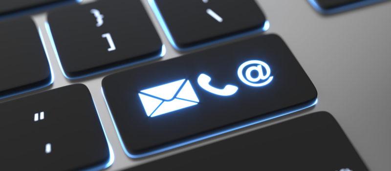 Tastatur mit Kontaktlogos