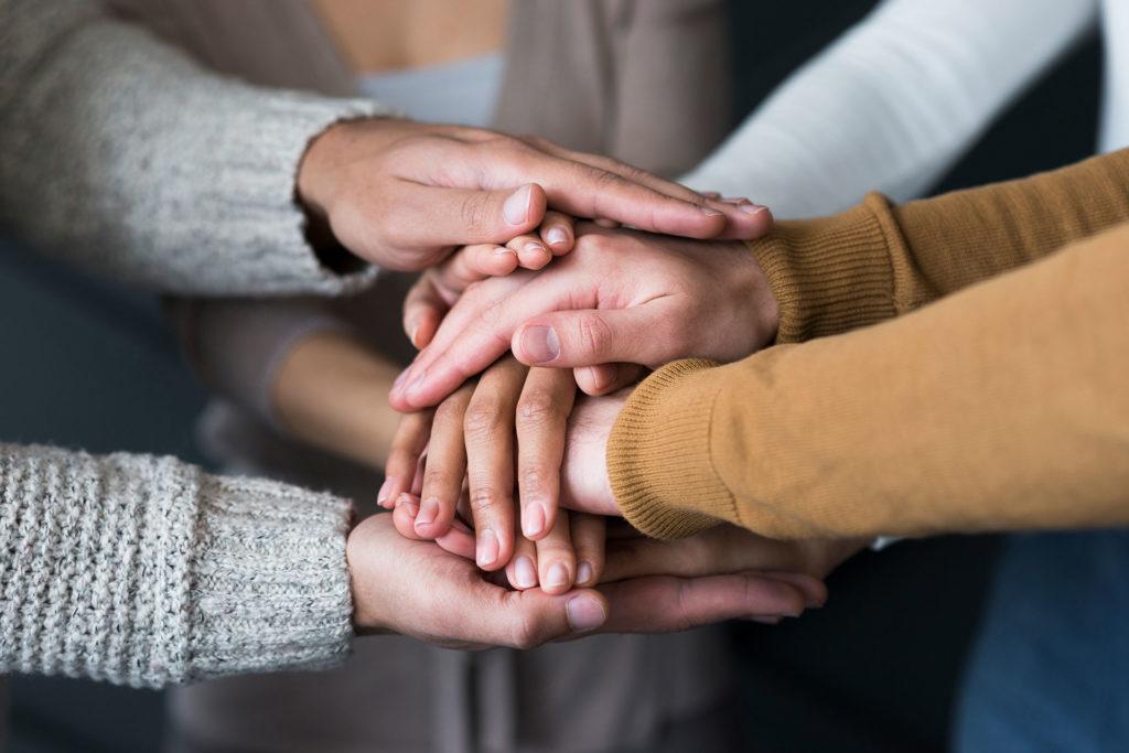 Hände Gemeinsamkeit